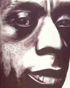 %22JAMES BALDWIN%22 - Acrylic, c Roy Thinnes