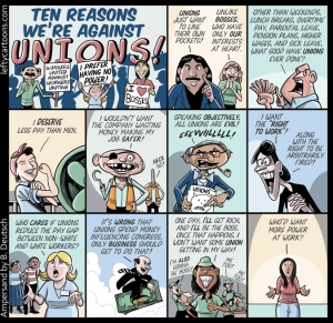 Ten Reasons We're Against Unions! by Barry Deutsch