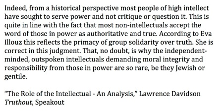 role of intellectual