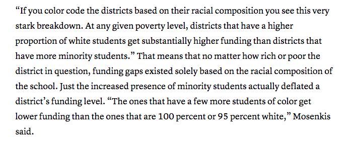 race and school funding