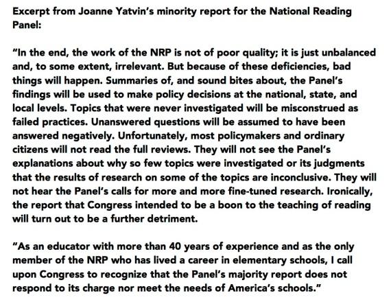 Yatvin minority excerpt