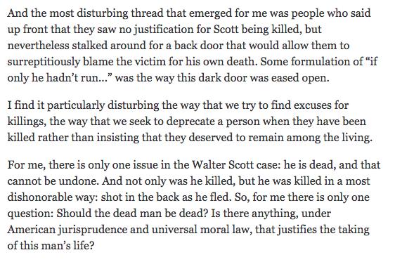 Blow on Walter Scott