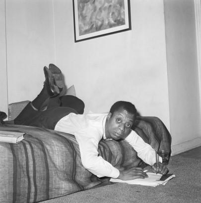 James Baldwin Gets Comfortable to Write