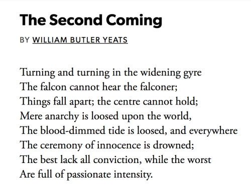 second coming yeats