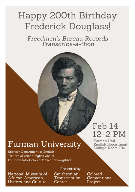 Furman Douglass Day 2018 flyer