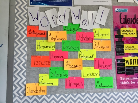 Marakoff word wall
