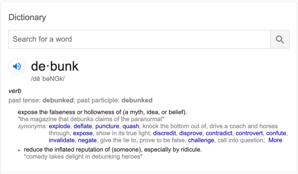 debunk