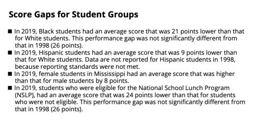 MS score gaps grade 4