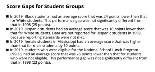 MS score gaps grade 8
